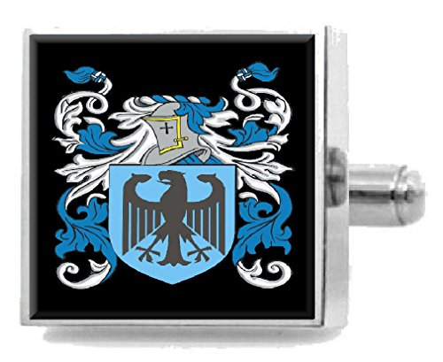 Select Gifts Clithero England Heraldry Crest Sterling Silver Cufflinks Engraved Box