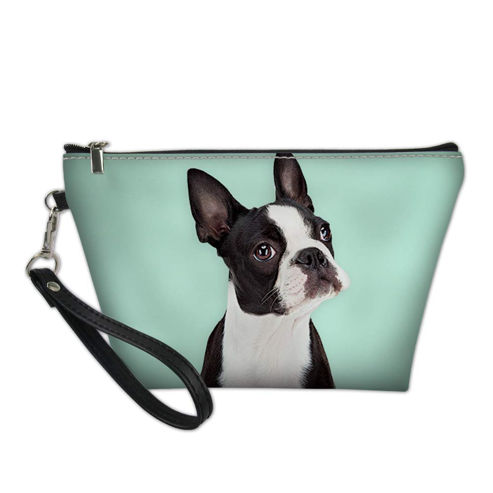 Buybai Small Cosmetic Bag Travel Makeup Bag French Bulldog Toiletry Travel Bags Handy Portable Wash Pouch Waterproof