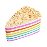 Kirbyates_Toys Super Slow Rising Slow Rising Rainbow Cake Bread Squeeze Stress Reliever Phone Straps Bun Charms Toy Gifts