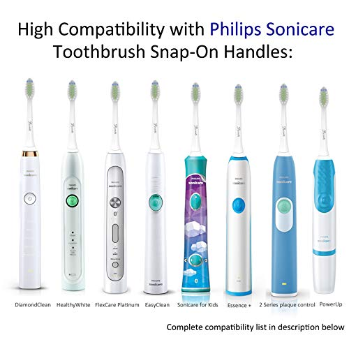 Replacement Brush Heads for Philips Sonicare Electric Toothbrush,DiamondClean, HealthyWhite, FlexCare,EasyClean, Essence +, PowerUp by Bernito,8 Pack by Bernito (Image #5)