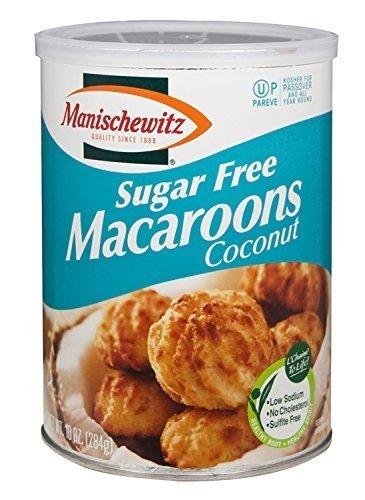 - Manischewitz Sugar Free Macaroons, Coconut, 10 oz