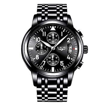 Men Business Watch Chronograph Clock Brand Luxury Fashion Casual Sport Waterproof Quartz Wrist Watch Hombres Relojes Relojes de Pulsera Ropa, Zapatos y Joyería