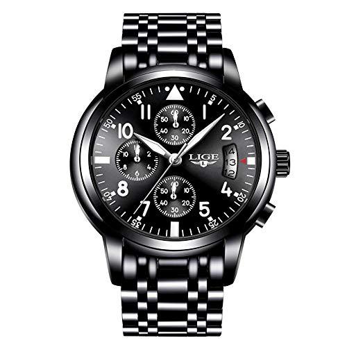 Men Business Watch Chronograph Clock Brand Luxury Fashion Casual Sport Waterproof Quartz Wrist Watch (Best Affordable Luxury Watches)