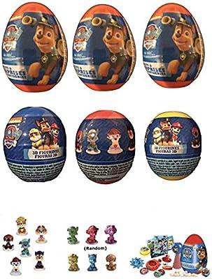 Paw Patrol 6 New Plastic Surprise Eggs!