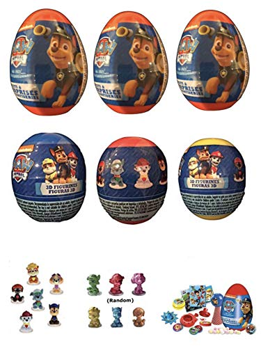 Chocolate Toy Bag - Paw Patrol 6 New Plastic Surprise Eggs!