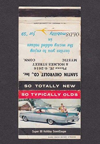Santin Chevrolet Co Inc 5 Holmes St Mystic CT 1959 Oldsmobile matchcover