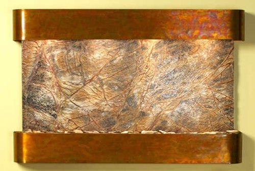 Adagio Sunrise Springs With Brown Rainforest Marble in Rustic Copper Finish and Rounded Edges Fountain
