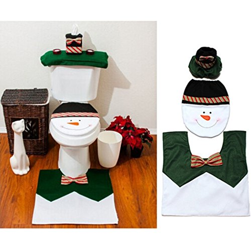 Ohuhu Snowman Toilet Christmas Decorations