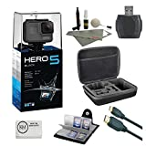 GoPro HERO 5 Black + 64 GB Micro SD + Card Reader + 6 ft HDMI Cable + Memory Card Wallet + Cleaning Kit + Camera Case (7 items)