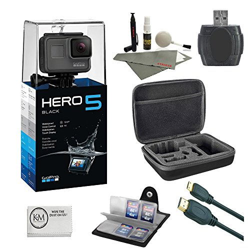 gopro-hero-5-black-64-gb-micro-sd-card-reader-6-ft-hdmi-cable-memory-card-wallet-cleaning-kit-camera