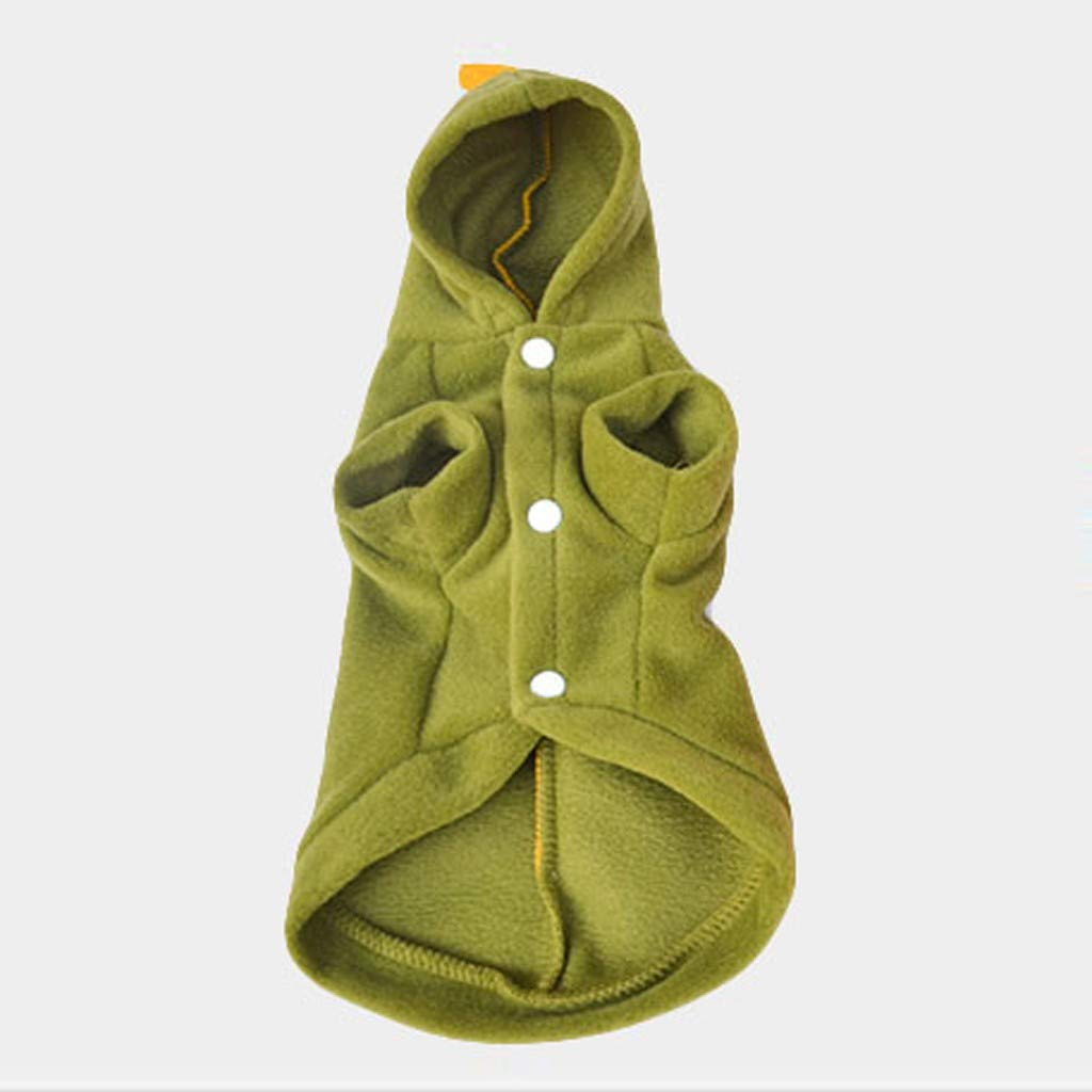 ZoePets Little Dinosaur Pet Apparel Hooded Pet Sweater with Jagged Decoration on Back
