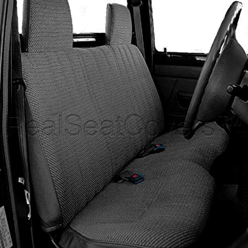 RealSeatCovers for Front Bench A25 Triple Stitched Molded Headrests Seat Belt Cutout Small 2