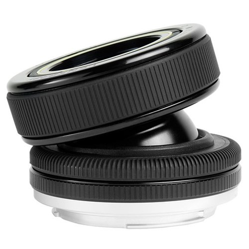 Lensbaby Composer Pro Lens with Double Glass Optic (for Canon EOS Cameras) with Lensbaby Optic Swap Kit + UV/FLD/CPL/Macro Filters + Wide & Telephoto Lens Set