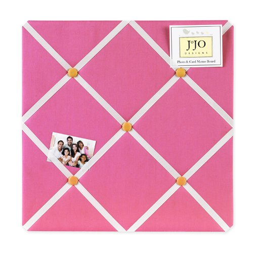 Sweet Jojo Designs Pink and Orange Butterfly Fabric Memory/Memo Photo Bulletin Board