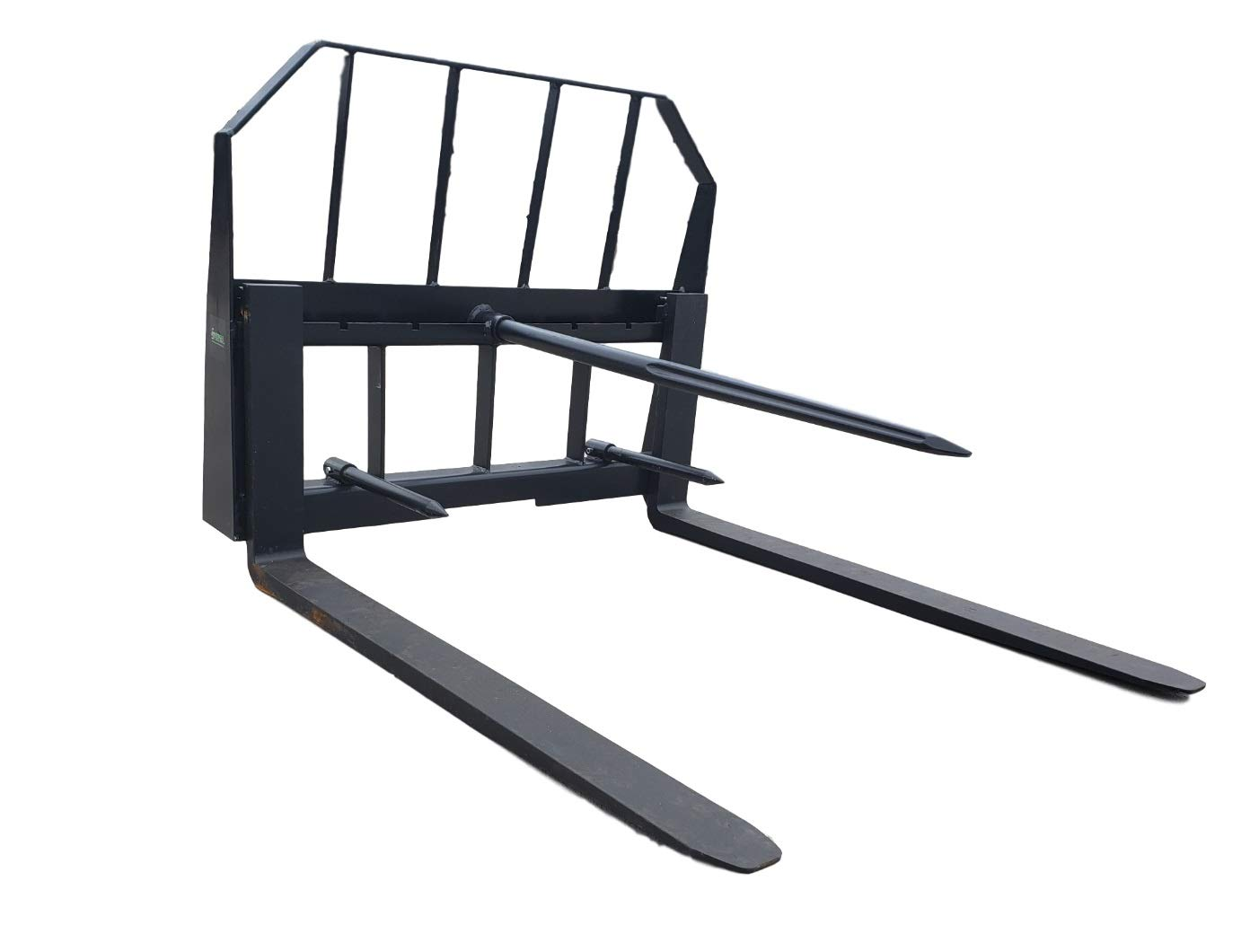 ES 48'' Pallet Fork 49'' Hay Bale Spear Combo Skid Steer Quick Attach by ES Attachments