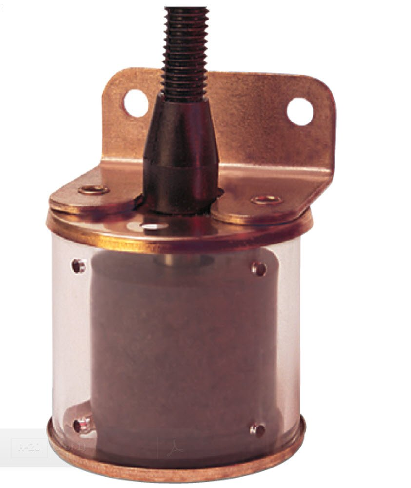 Gems Sensors 43980 Buna N Float Bracket Mounted Slosh Shield Single Point Level Switch, 1-7/8'' Diameter, 1-3/8'' Actuation Level, 50VA, SPST/Normally Open