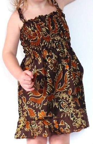 Robe Fille Bebe 1 An A 2 Ans Enfant Ethnique Batik Vetement Coton Fille Smokee Reglable Ajustable Marron Chocolat Dore Amazon Fr Bebes Puericulture
