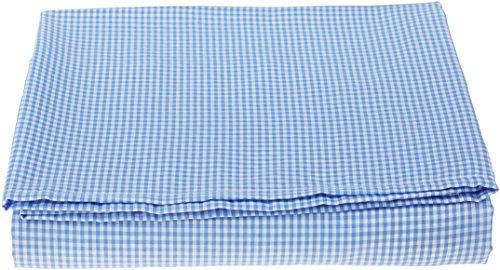 BabyDoll Gingham Flat Crib/Toddler Sheet, Light Blue (Gingham Bedding Baby)