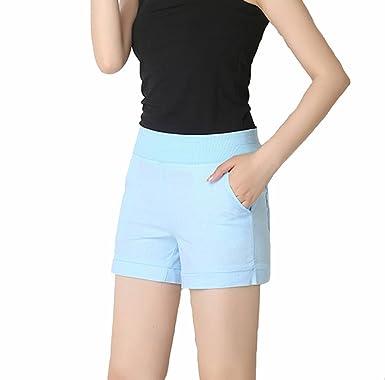 0a752c2f9fe5a0 TieNew Damen Schön Kurze Hose | Leinen Sommer Cool Shorts,Bermuda Shorts  Damen Sommer Gummizug