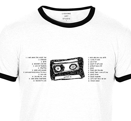 Lissome Art Studio Mixtape T-Shirt Inspired by Kiss whmIgZ