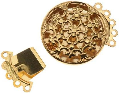 Necklace Clasp Goldtone Round Filigree Style Pack of 3