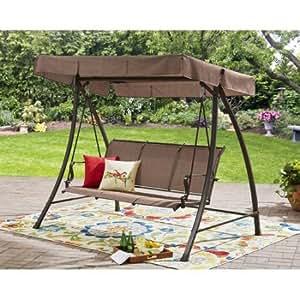 Amazon Com Dark Brown Wesley Creek 3 Seat Cushion Porch