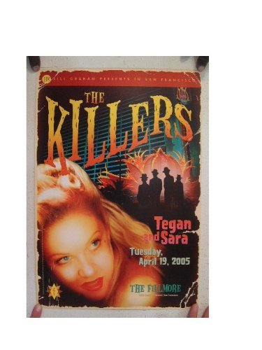 The Killers Tegan and Sara Poster The Fillmore Original 2005