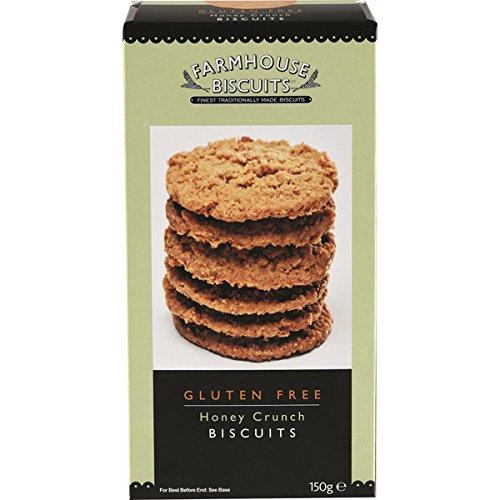 Galletas de granja galletas de crujido de miel sin gluten - 2 x 150 gramos: Amazon.es: Alimentación y bebidas