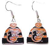 MLB Baltimore Orioles Knit Hat Dangler Earrings