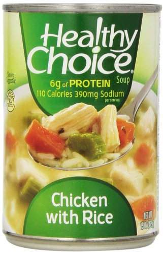 - Healthy Choice Soup 5 Chicken Noodle and 5 Chicken with Rice Variety Pack, 15 oz. cans