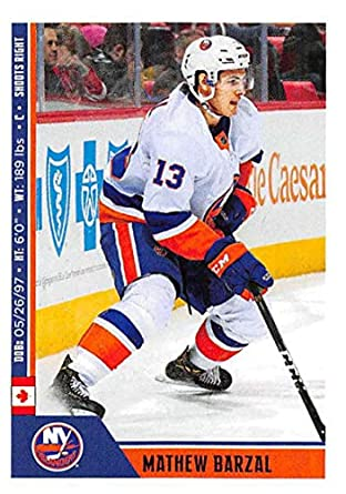 83b6dbe6f 2018-19 Panini NHL Stickers  148 Mathew Barzal New York Islanders Hockey  Card