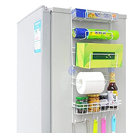 Worthy Prime Refrigerator Side Storage Rack For Kitchen Wrap Organizer
