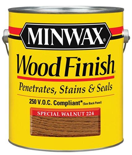 Minwax 710760000 Wood Finish - Penetrates, Stains & Seals, 250 VOC, gallon, Special Walnut (Walnut Gallon)