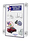 Marketing Holders Suction Cup Sign Holder Display for 11'' x 17'' Double Sided (pack of 6)