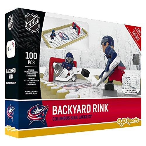 fan products of NHL Columbus Blue Jackets Backyard Rink Set, Small, Black
