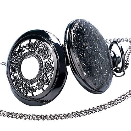 ZJZ fickur svart vintage kvarts fob fickur halv jägare antika män kvinnor retro klocka gåvor