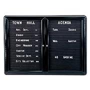 Ovation 2-Door Aluminum Frame Felt Wall Mounted Letter Board, 3' H x 4' W Surface Color: Black, Frame Finish: Black