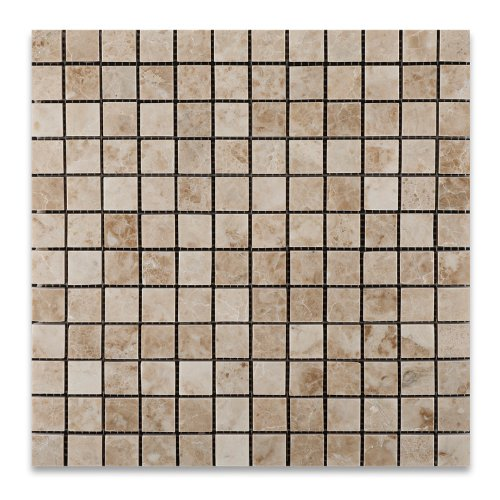 new Cappuccino 1X1 Marble Polished Mosaic Tile - Box of 5 sq. ft.