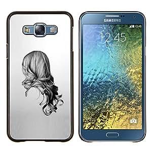 LECELL--Funda protectora / Cubierta / Piel For Samsung Galaxy E7 E700 -- Belleza Volver --