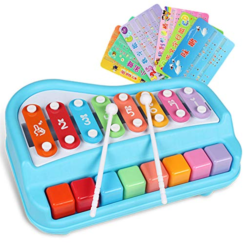 - Ktyssp 2 in 1 Xylophone for Kids Mini Musical Toy Bright Multi-Colored (B)