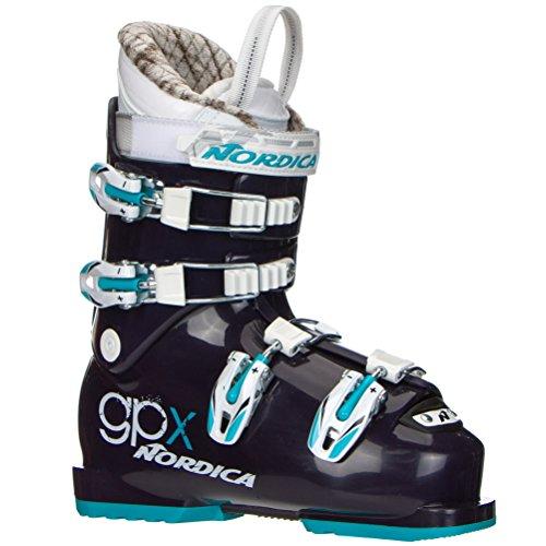 Nordica GPX Team Girls Ski Boots - 24.5/Dark Purple-Light ()