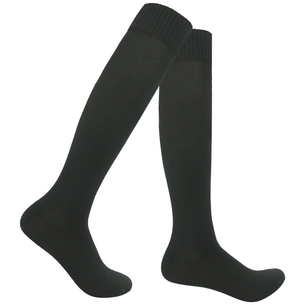 RANDY SUN Men's Novelty Binding Business Casual Daily Wear Socks Up to Knee Black 1 Pair by RANDY SUN