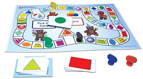 NewPath Learning 23-0021 Exploring Shapes Learning Center Game, Grade: Kindergarten to 1 (Learning Centers Shapes)