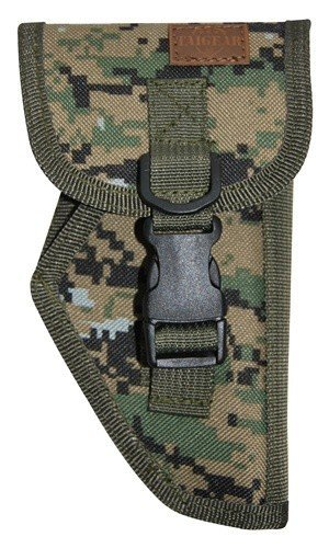 Tactical Gun Pistol Holster Small Arms Airsoft (Woodland Digital Camo - Right Hand)