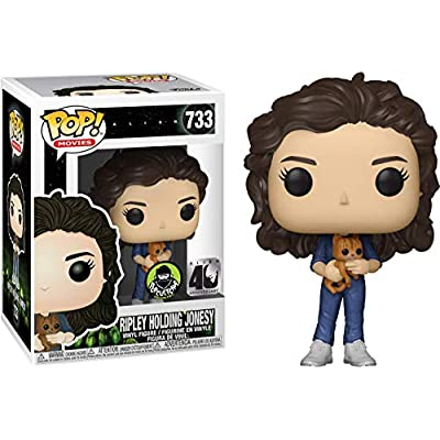 Funko Pop Movies: Alien - Ripley Holding Jonesy Alien 40th Anniversary Limited Edition Figurine: Toys & Games