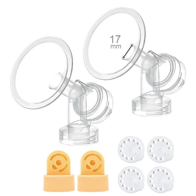 Harmony und Sonata Zur Verwendung mit Medela Freestyle 24 mm Spectra Schilde//Flansche 24-mm-Nippelkanal auf 17 mm zu reduzieren; 2 Stck. um den Medela Maymom Flanscheins/ätze 17 mm f/ür und Medela