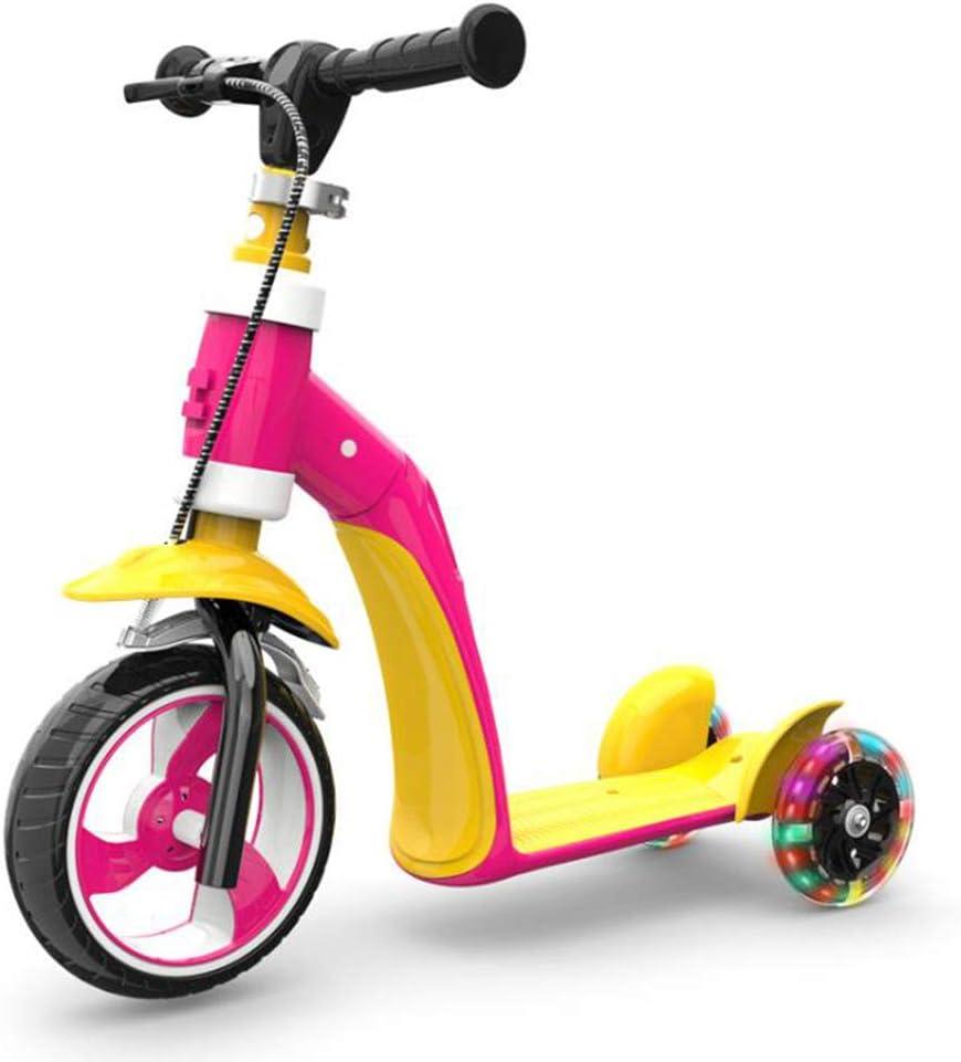 Archer Scooter para Niños Triciclo Patineta Sin Pedal 2 Modelos De Cambio Flexible Multifunción Los Niños Y Niñas Usan Ruedas De Flash De Carro