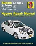 Haynes Repair Manual for Subaru Legacy, '10-'16, & Forester, '09-'16 (89102)
