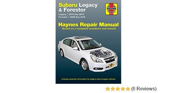 amazon com haynes repair manual for subaru legacy 10 16 rh amazon com Subaru Bluetooth Problems 2012 Subaru Forester