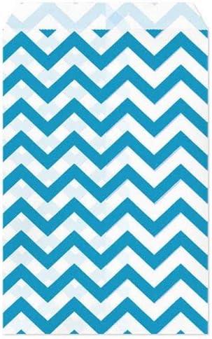 "100 Green Chevron Print Paper Bags Gift Bags Merchandise Bags  4/"" x 6/"""